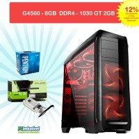 01-CPU PCIMBATIVEL, INTEL G4560, Geforce GTX 1030 2GB, 8GB DDR4, 1TB, FONTE 500W