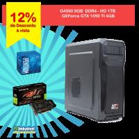 03.1-CPU PCIMBATIVEL, INTEL G4560, Geforce GTX 1050 TI 4GB, 8GB DDR4, 1TB, FONTE 500W