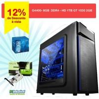 00 - CPU PCIMBATIVEL, INTEL G4400 Geforce GT 1030 2GB, 8GB DDR4, 1TB, FONTE 500W