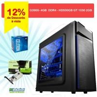 00 - CPU INTEL G3930, Geforce GT 1030 2GB, 4GB DDR4, 500GB FONTE 500W - PCIMBATIVEL - 010219